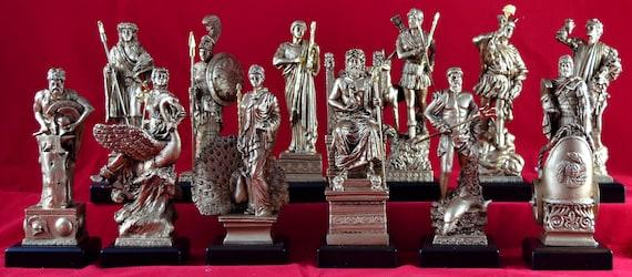 Greek Pantheon NEW White 12 Olympian gods Set Statues