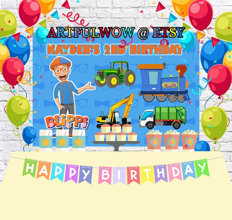 Cocomelon Baby Picture Youtube Back Drop Backdrop Birthday Banner Party Theme