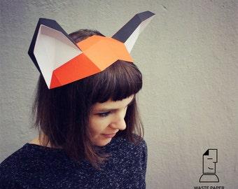 11 papercraft fox mask printable digital template etsy