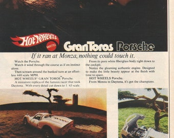 Vintage Print AD 1970's Mattel Hot Wheels Gran Toros 8 x 11 w/ FREE Shipping