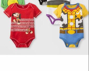 685a3483a Disney Toy Story Onesies - Woody, Buzz, Rex, Slinky - Personalized Name