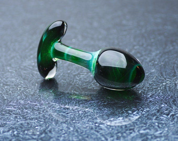 Glass Anal Plug - Medium - Dark Magic
