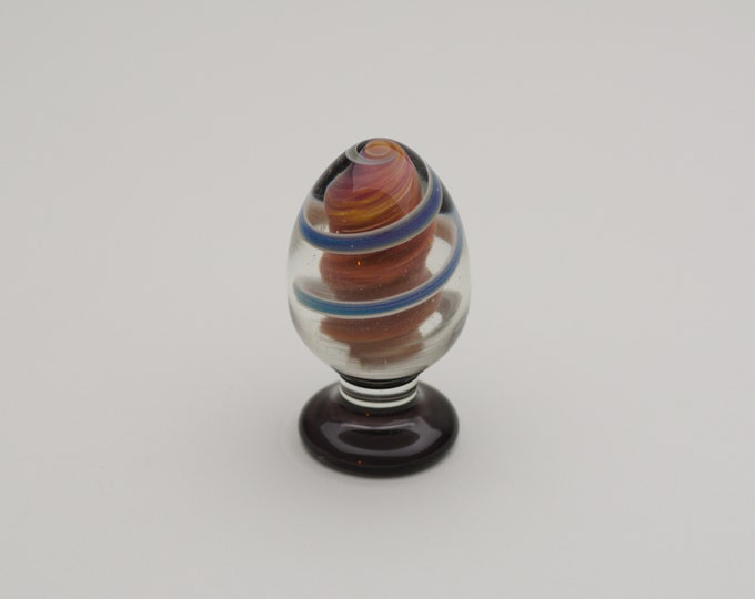 Glass Anal Plug - XLarge - Elemental Hurricane