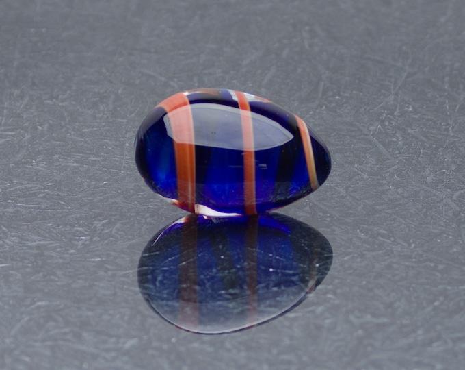 Glass Egg - Ribboned Sapphire