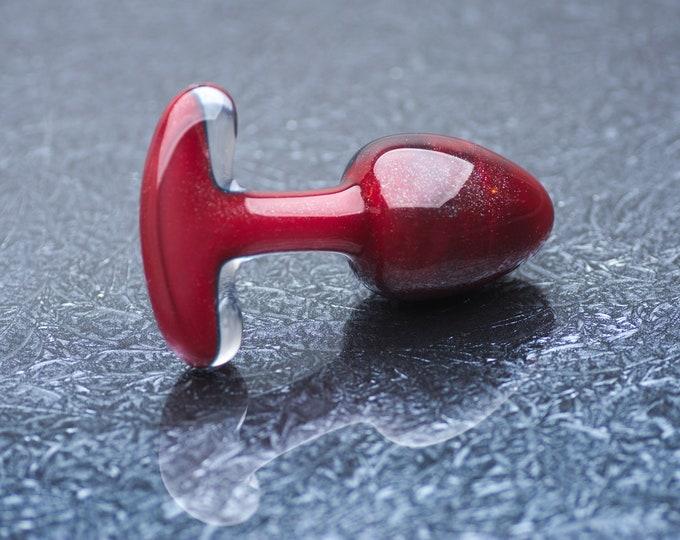 Glass Anal Plug - Large - Hephaestus