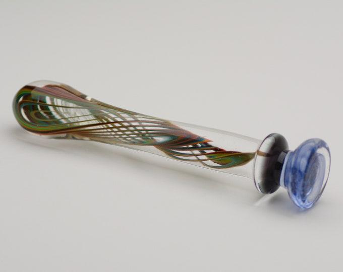 Glass Dildo - Rainbow Vibes