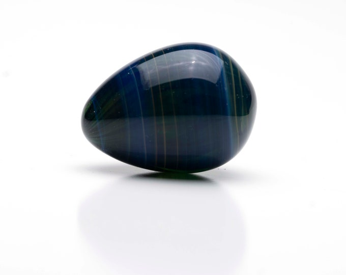 Glass Egg- Medium - Deep Blue
