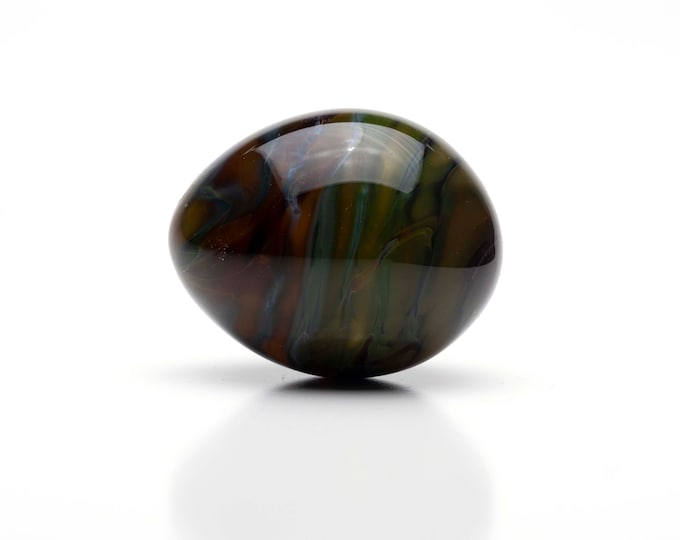 Glass Egg- Large - Dark Jade