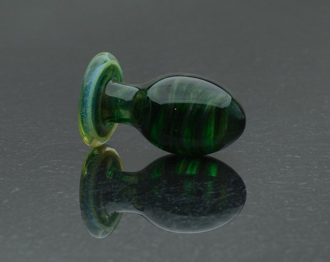 Glass Butt Plug - Medium - Verdent - Annealed Borosilicate Body-Safe Glass Sex Toy / Anal Plug