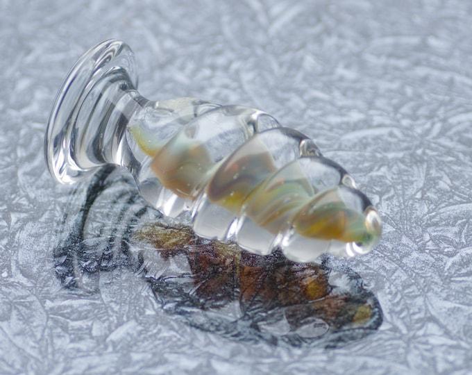 Small Glass Anal Plug - Celestial Twist