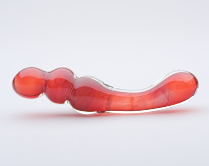 Glass Dildo - Ruby Glitter