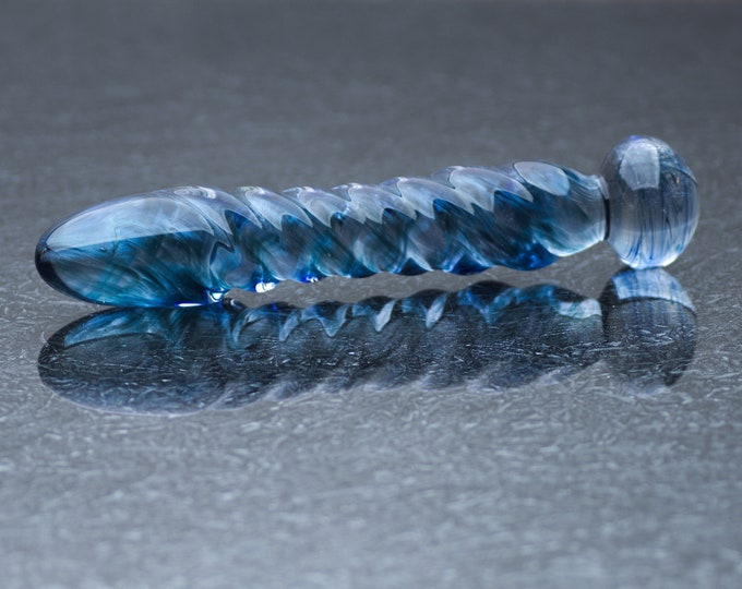 Glass Dildo - Electric Blue