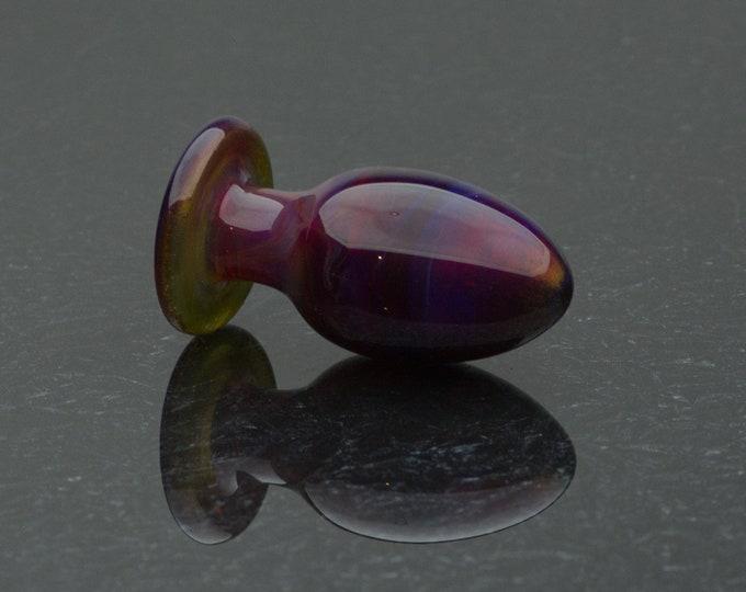 Glass Butt Plug - Small - Glamour - Borosilicate Body-Safe Glass Sex Toy / Anal Plug by Simply Elegant Glass