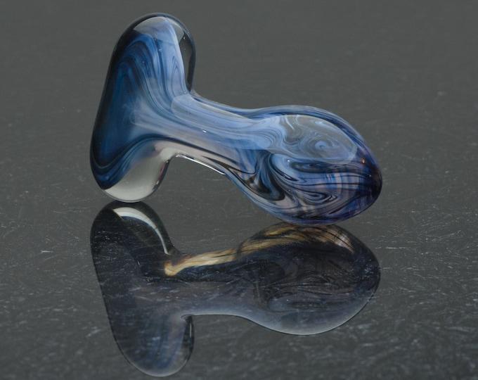Glass Butt Plug - Medium - Dusk Skies - Borosilicate Body-Safe Glass Sex Toy / Anal Plug - Art Glass Toy by Simply Elegant Glass