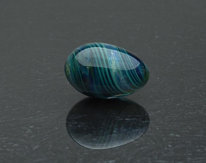 Glass Kegel Egg - Enchanted Waters - Borosilicate Glass Art Sex Toy by Simply Elegant Glass