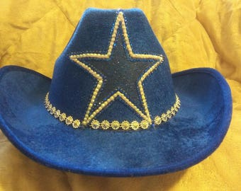 63d77714bdd40 DALLAS COWBOYS Sparkle and Bling Cowboy Hat