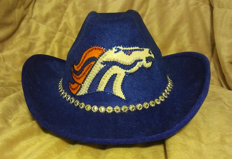 ed4bee6b7cfbc DENVER BRONCOS Sparkle and Bling Cowboy Hat
