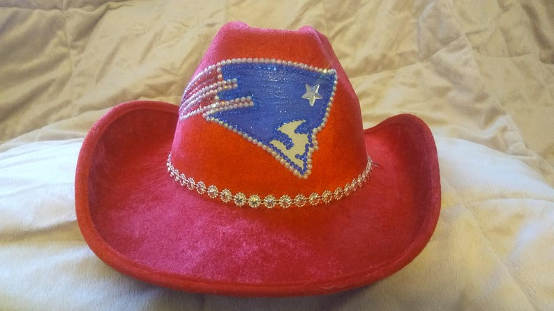 6c246c1ba6935 NEW ENGLAND PATRIOTS Sparkle and Bling Cowboy Hat