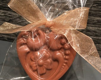 Wedding favors - 12 Gourmet Chocolate covered Double Stuffed Oreo hearts with design