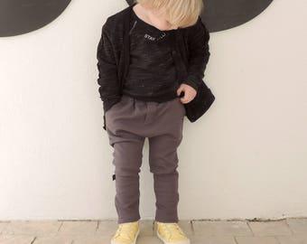 Kids Harem, Toddlers Harem Pants, Baby Harem Pants, Toddler Grey Pants, Grey Harem, Hipster Kids Clothes, Toddler Cool Pants  - by PetitWild