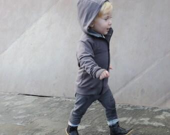 Baby Hoodie - Kids Hoodie - Boys Hoodies - Girls Hoodies - Grey Hoodie - Kids Sale - Kids Gift  - by PetitWild