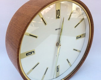 Mid century modern wall clock - SMITHS - made in Great Britan