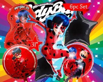"31"" Miraculous Lady Bug Ladybugs Happy Birthday Party Balloon * Dusty Crophopper"