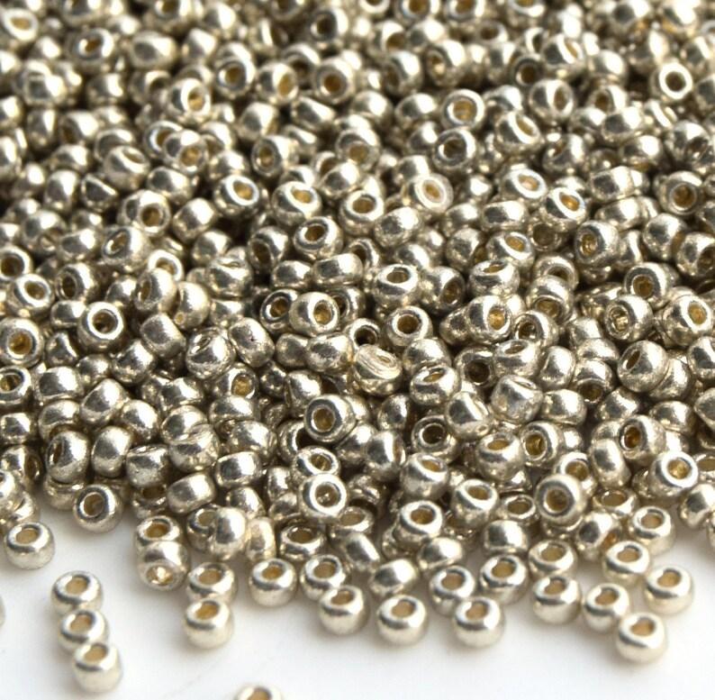 Japanese Seed Beads Silver Seed Beads Miyuki 150 RR-4201 duracoat galvanized silver