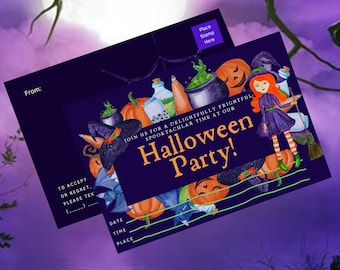 """Happy HALLOWEEN INVITATIONS/4x6""""/Instant Download/Printable Postcards/Mailing Invitations/Fall/Postcards/Digital Download/Party Invitation"""
