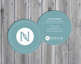 digital download nerium international customized 3 round business cards - Round Business Cards