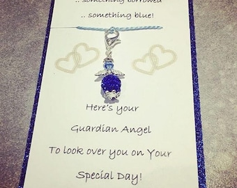 A perfect Something Borrowed, Something Blue Angel for the Bride