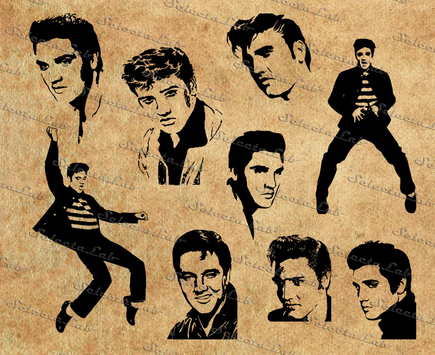 Digital Svg Elvis Presley Inspired Rockn Roll Etsy 1000 Images About Circuit Cricket On Pinterest Silhouette Vector 50