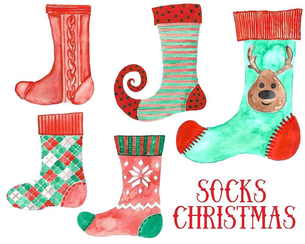Kaufen Sie 3 für 9 USD Socken-Weihnachten Weihnachten | Etsy