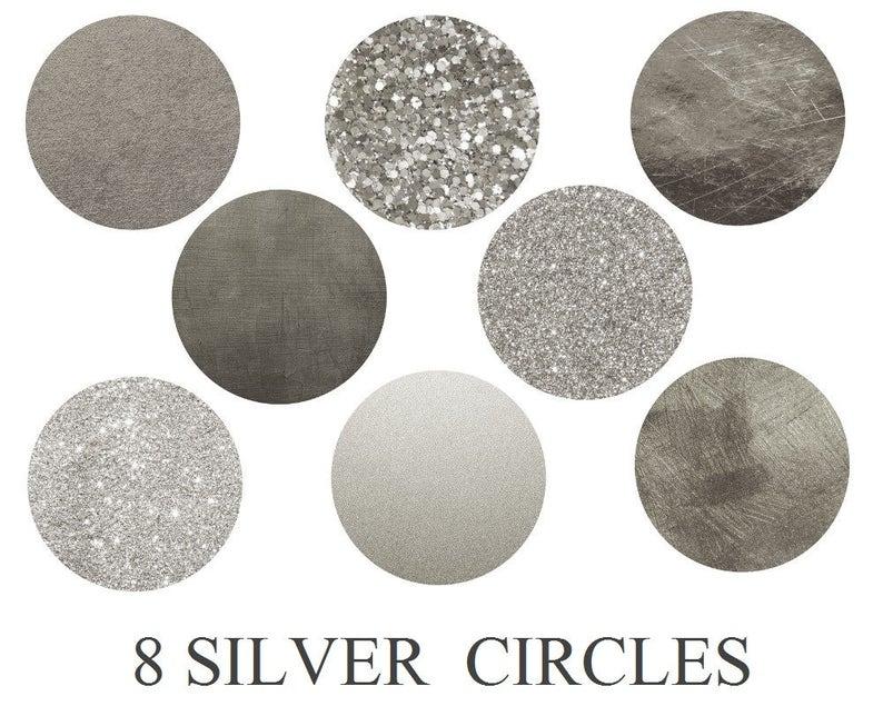 c37bbac01bc Koop 3 voor illustraties van 9 USD zilver cirkels cirkel | Etsy