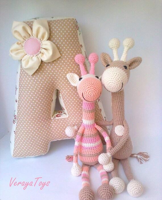Lustige Gestreifte Giraffe Häkeln Spielzeug Gefüllte Tiere Etsy