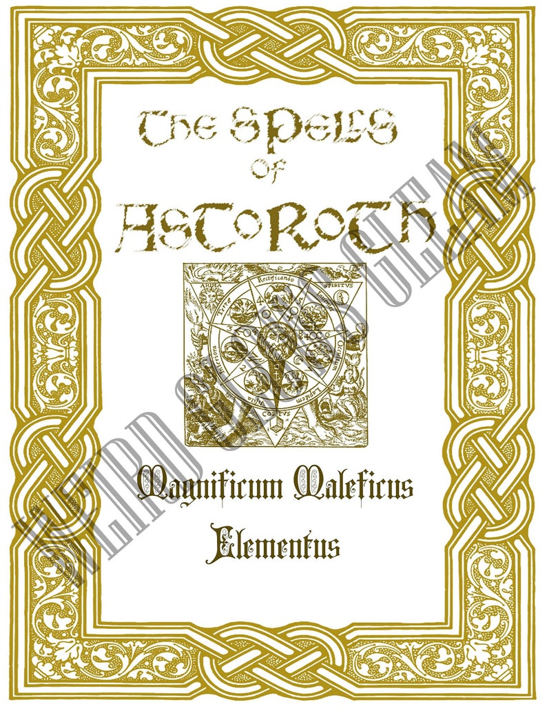 picture about Printable Spell Book Pages identified as The Spells of Astoroth- Bedknobs and Broomsticks Impressed Spell E book Webpages