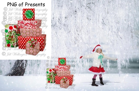 Christmas Presents Png.Digital Christmas Presents Png Overlay For Photographers Photography Photos