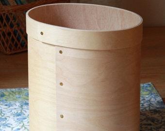 Oval Wastebasket,Wood Wastebasket,Wooden Wastebasket,Handmade Wastebasket,Bentwood Wastebasket,Wood Trash Bin,Wooden Trash Bin