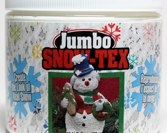 16 oz. Jumbo Snow Tex,DecoArt Snow Tex,Snow Tex,Texture Medium,Craft Snow,Deco Art Snow Texture,Deco Art Snow Tex,Christmas Snow Tex