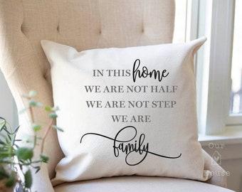 In This Home Pillow Cover - This Home Pillow Cover - Farmhouse Pillow Covers - Rustic Decor - Phrase Pillow