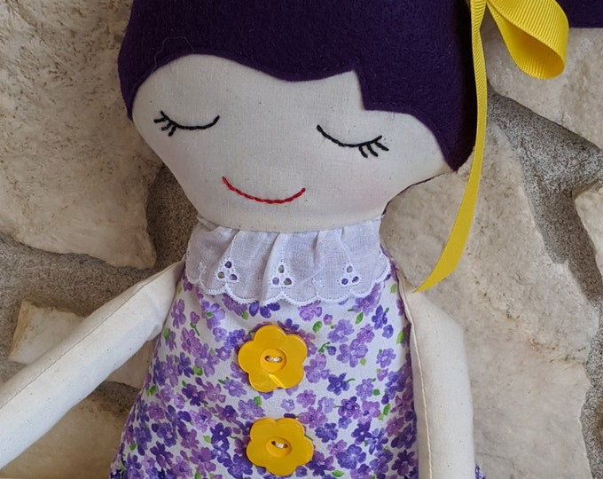 Big Sister Doll in Purple Chintz Floral