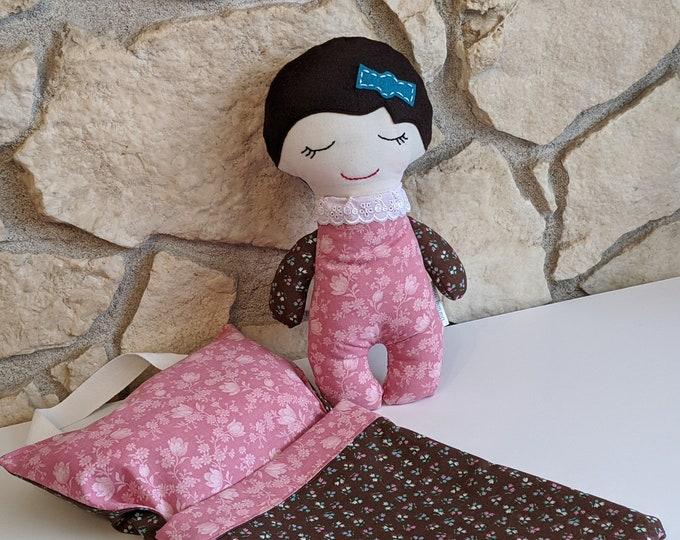 Baby Girl Doll with Sleeping Bag