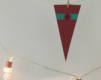 Small Bunting Red Button