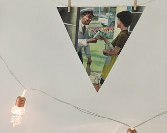 Large Bunting Classic Ladybird Book Page Milkman