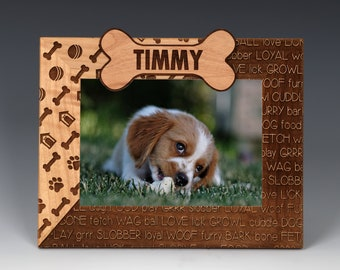 dog picture frames etsy