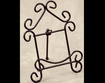 Display Stand Black Metal Scroll Series Plate Stand Easel Wrought Iron Stand  sc 1 st  Etsy & Plate display stand | Etsy