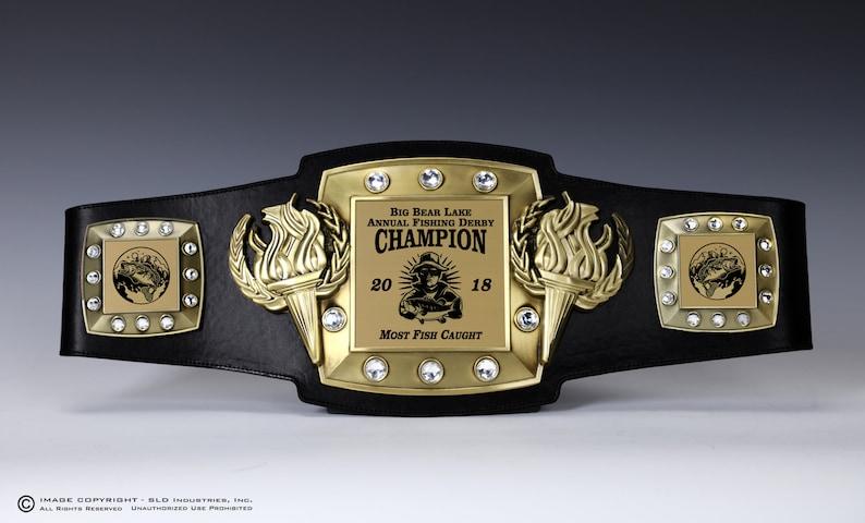 FISHING, Fishing Tournament, Championship Belt, Trophy, Award, Perpetual,  Personalized, Fully Customizable Engraved