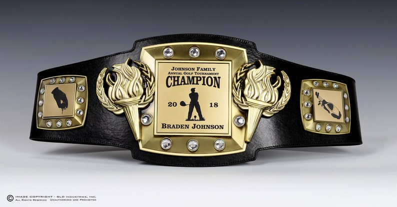 Golf, Championship Belt, Trophy, Award, Perpetual, Personalized, Fully  Customizable Engraved