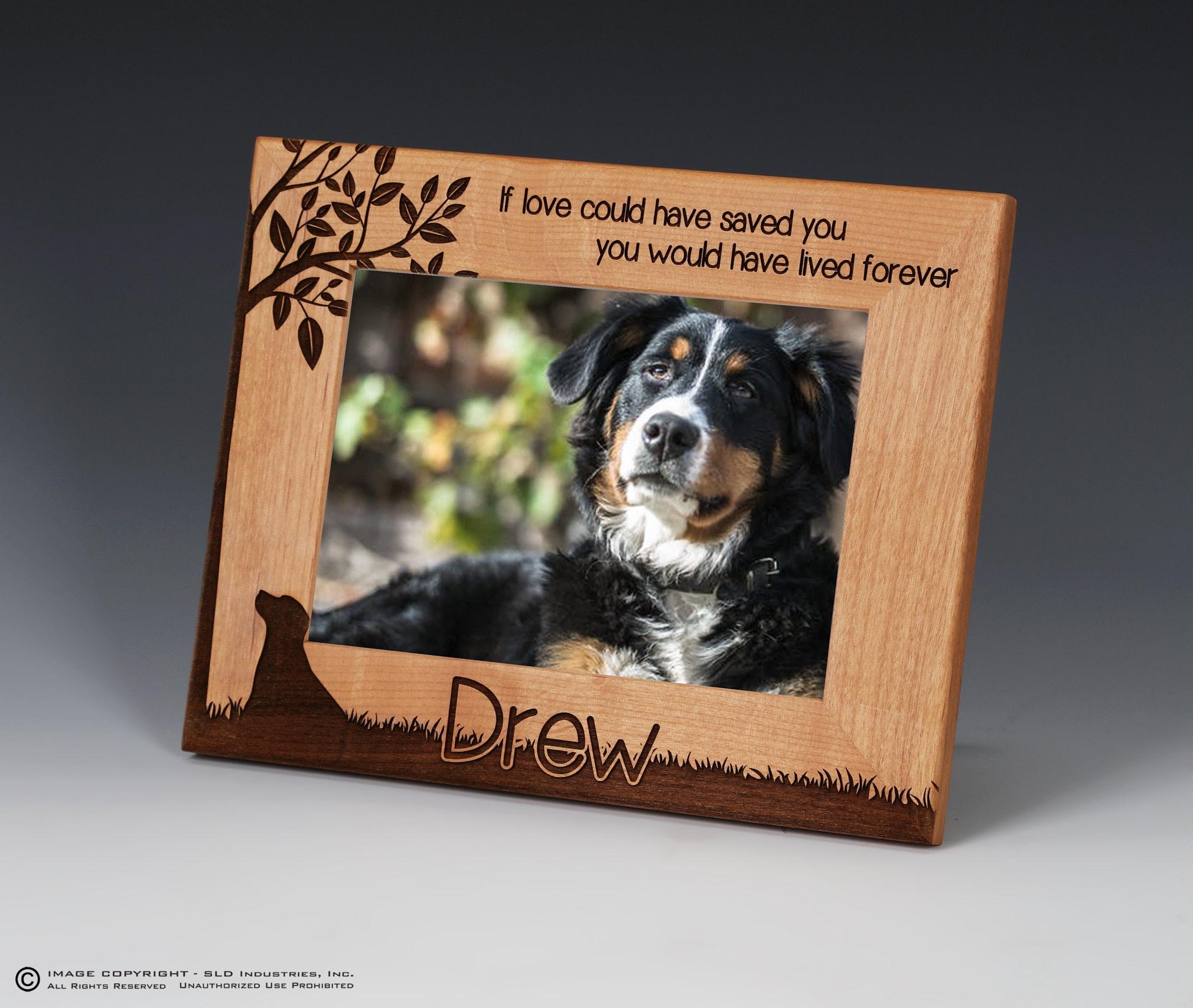 Dog Memorial Memorial Picture Frame Dog Name Frame Pet | Etsy