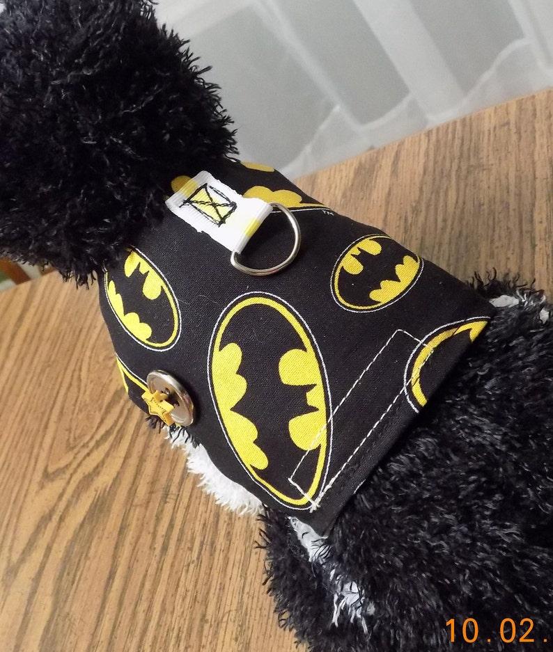 c7d36d798f41 NEW Fabric Dog Harness//Batman//Dog Clothing//Batman for | Etsy